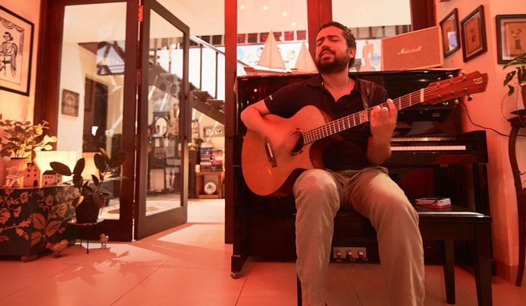 Soul songs: Harpreet at an informal musical gathering in Goa   Partho Mitra