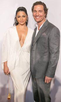Family man: Mcconaughey and his wife, camila alves   Hugo a.k.a. Sppider