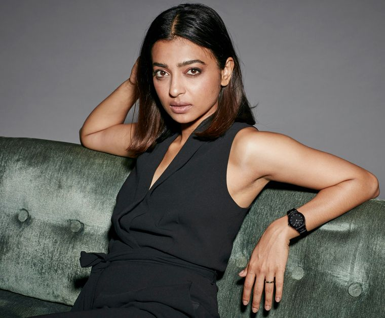 Radhika Apte sports her black Iconic Link Ceramic watch