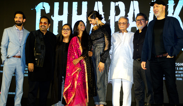 Starry symphony: Shankar and Loy with Deepika Padukone, Gulzar and others at the music launch of Chhapaak   Getty Images