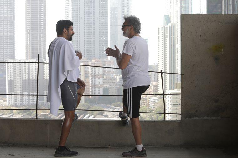 Sharing ideas: Mehra speaks to Farhan Akhtar while shooting Toofan.