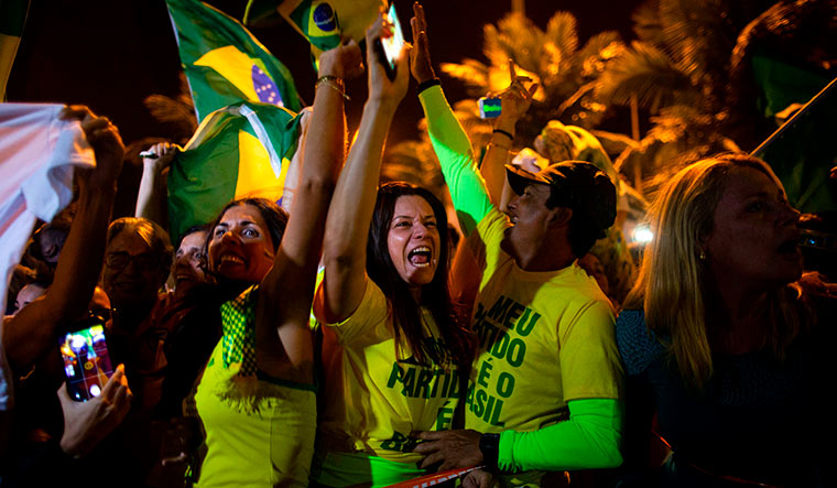 Right to party: Bolsonaro supporters celebrating his victory | AFP
