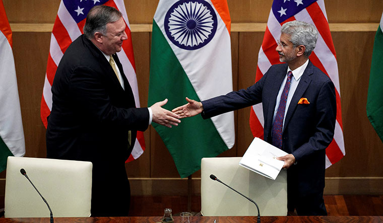 Third India-U.S. 2+2 Ministerial Dialogue on October 27