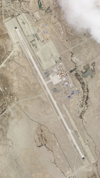 Rising tensions: A satellite image of the Ngari Gunsa dual-use airbase in western Tibet, where China has deployed a detachment of fighter aircraft since May | AP