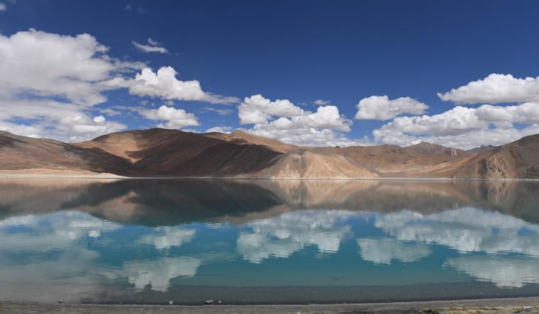 Calmer days: A file photo of the Pangong Lake in Ladakh | Bhanu Prakash Chandra