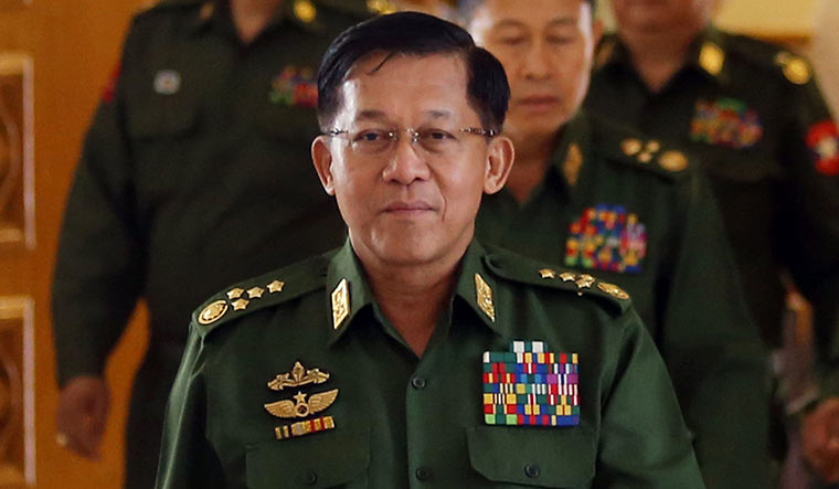 Iron hand: Myanmar army chief Min Aung Hlaing   AFP