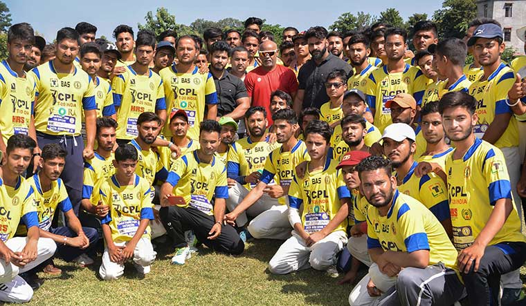 Long shot: Former cricketer Vinod Kambli during the selection of players for Central Premier League at Country Cricket Stadium in Gharota near Jammu | PTI