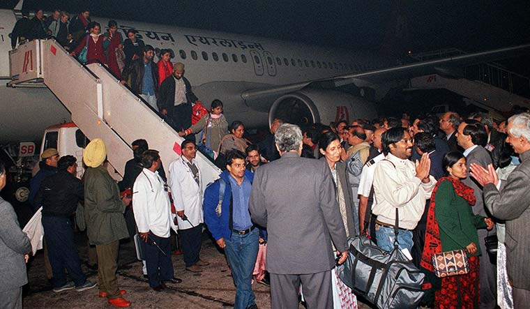 Freedom, at last: Passengers after they were released from capitivity on December 31 | AP