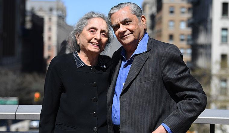 In good company: Bhagwati with wife, economist Padma Desai   Eileen Barroso