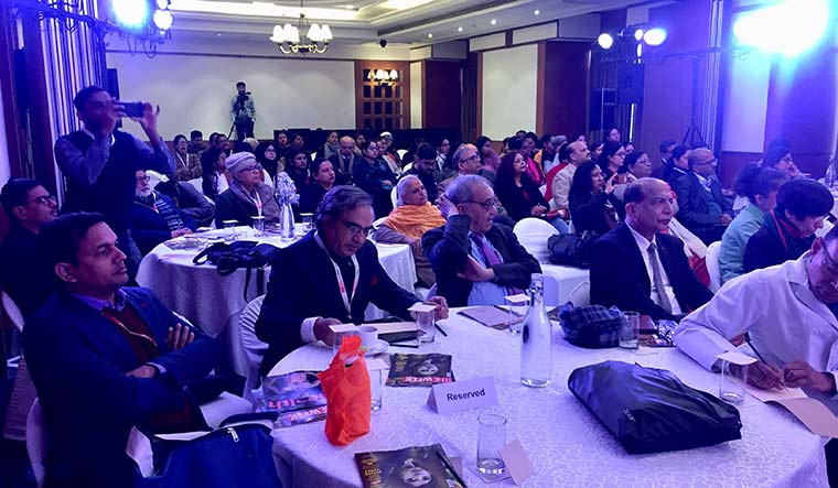 All ears: The audience at the breast cancer awareness event organised by THE WEEK in Delhi | Aayush Goel