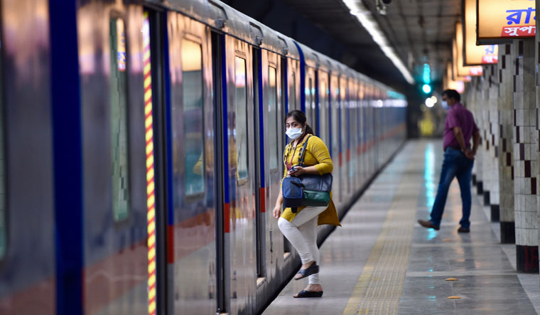 Watch your step: India has reopened several metro services, including this one in Kolkata | Salil Bera