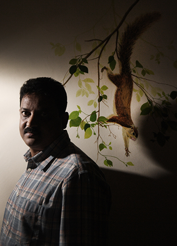 Batting for nature: Sanjay Gubbi, a conservation biologist who has worked extensively in the cauvery wildlife sanctuary, says the plight of grizzled giant squirrels represents a threat to the sanctuary's entire ecosystem.