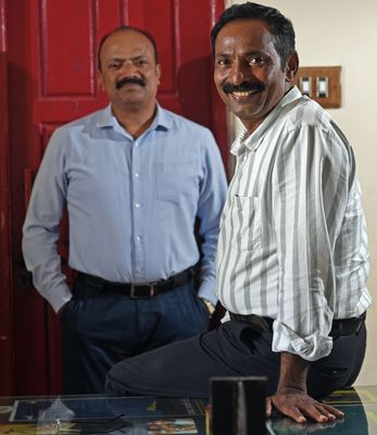 Fixing the system: K.V. Stanley (left) and Parashu, founders of the NGO Odanadi Seva Samsthe | Bhanu Prakash Chandra