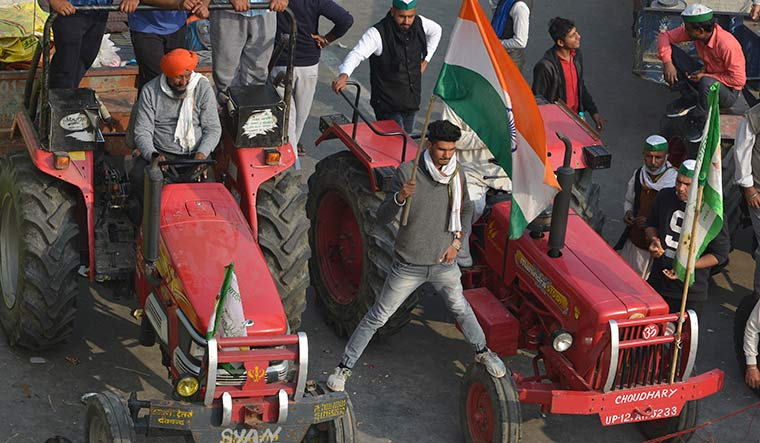 Up in arms: Farmers protesting at the Delhi-Ghaziabad border | Arvind Jain