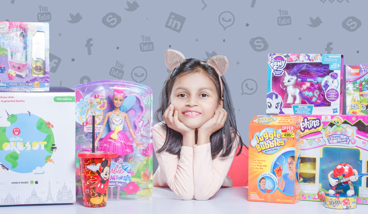 Toy lover:  Kyra Kanojia mostly does toy reviews and unboxing videos