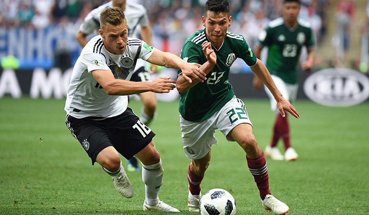 Hirving Lozano in action against Germany | AFP