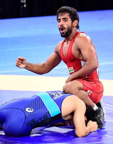 Rising star: Bajrang Punia after beating Japan's Daichi Takatani in the final | Sameer Hameed