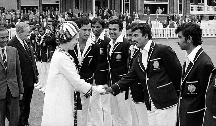 Royal reception: Wadekar introduces Sunil Gavaskar to Queen Elizabeth II | Getty Images