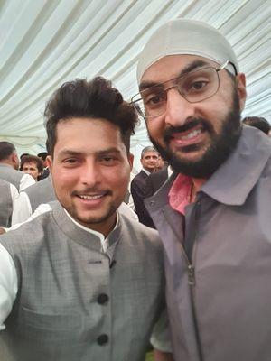 (right) Monty Panesar and Kuldeep Yadav