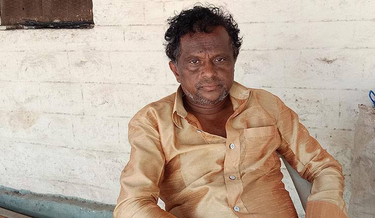 N.P. Venkatesh, who owns the farmhouse | Prathima Nandakumar