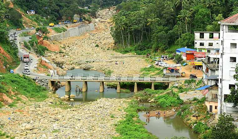 Long road to recovery: the reconstructed cheruthoni bridge in idukki, which was washed away in the floods last year | Rijo Joseph