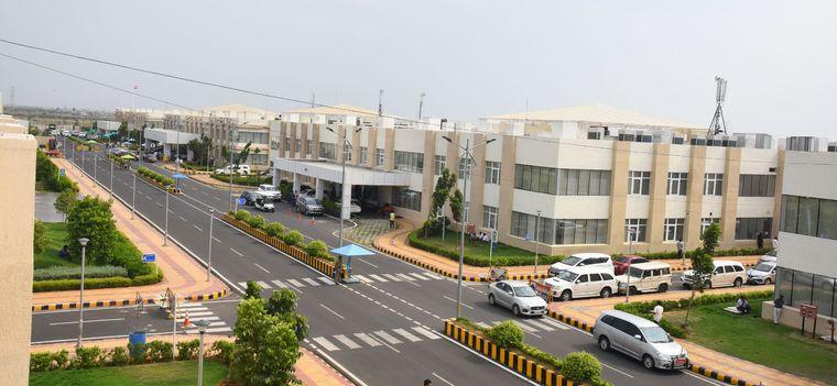 The secretariat premises in Amaravati.