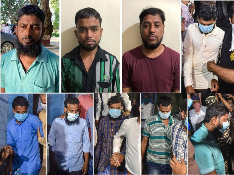 In the dock: The nine men the NIA arrested on September 19 | PTI