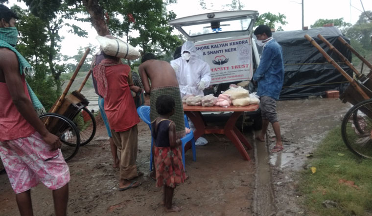 For the people: Mistry distributing free medicines in South 24 Parganas