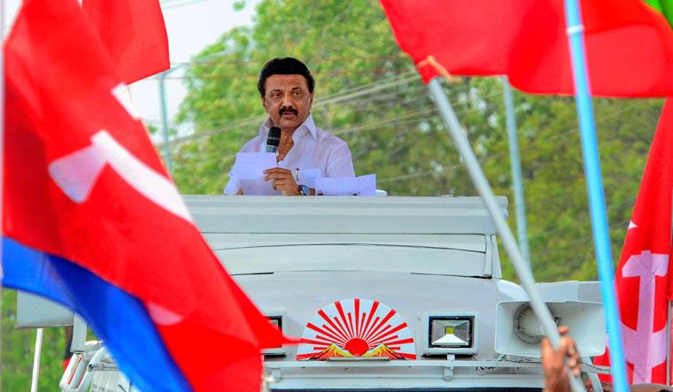 [File] Stalin at an election rally in Thoothukudi | PTI