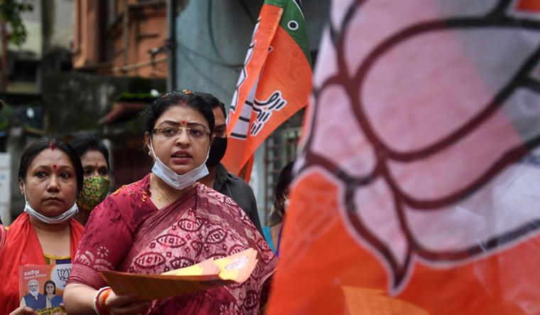 Tough task: Priyanka Tibrewal  campaigns in Bhabanipur |  Salil Bera