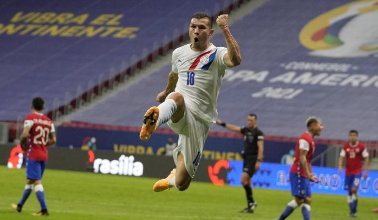 Paraguay-Braian-Samudio-celebrates-copa-america-ap