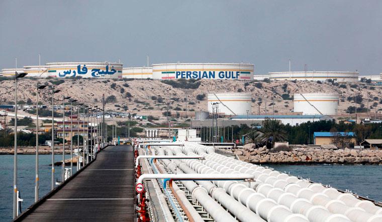 Khark Island oil facility