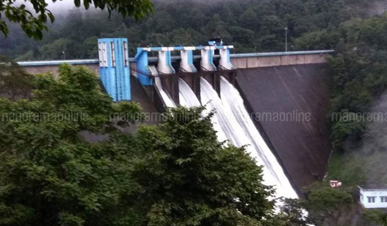 Shutter gates of the Idamalayar dam in Ernakulam district were opened on Thursday morning | Onmanorama