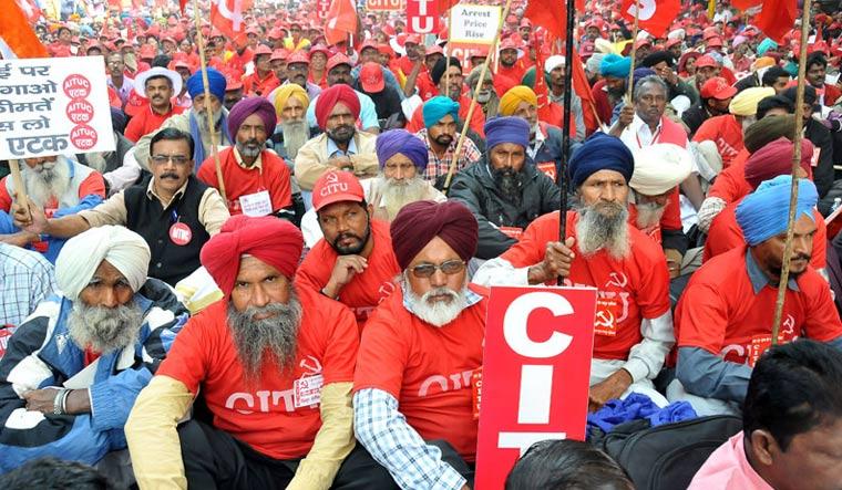 CITU protest