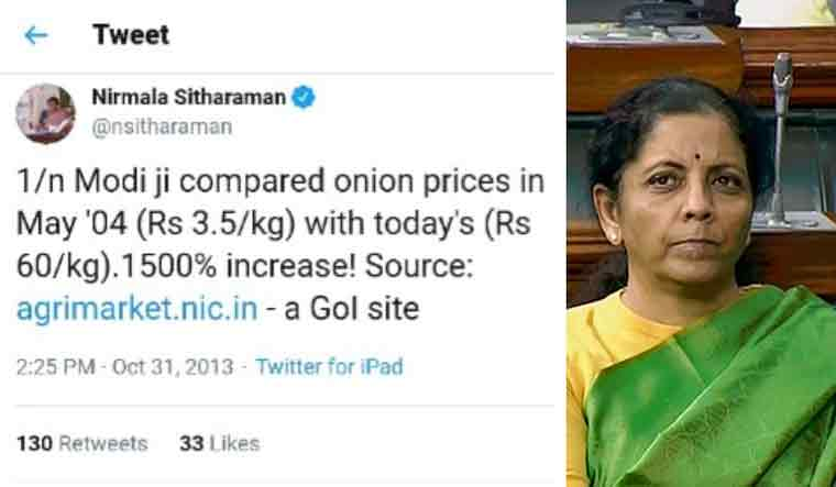 I don't eat much of onion, says Nirmala Sitharaman in Lok Sabha