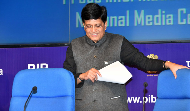 Union minister Piyush Goyal during a post budget press conference in New Delhi | Arvind Jain