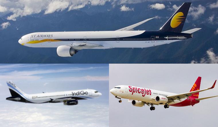 Jet Airways IndiGo SpiceJet