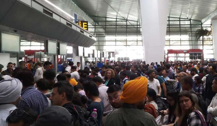 Delhi Airport Air India passengers