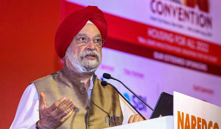 Minister of State for Housing and Urban Affairs Hardeep Singh Puri addresses the 15th National Convention on 'Housing for All 2022', organised by NAREDCO, in New Delhi | PTI