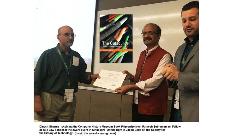 Book on Indian infotech history, wins global prize
