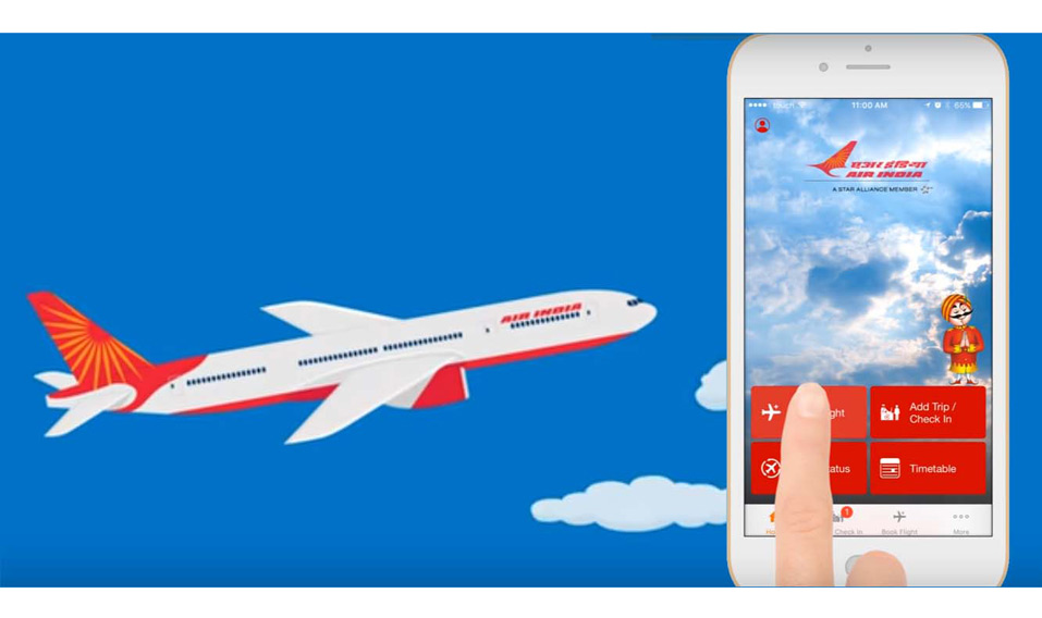Flying Air India? Check in with your smart watch!