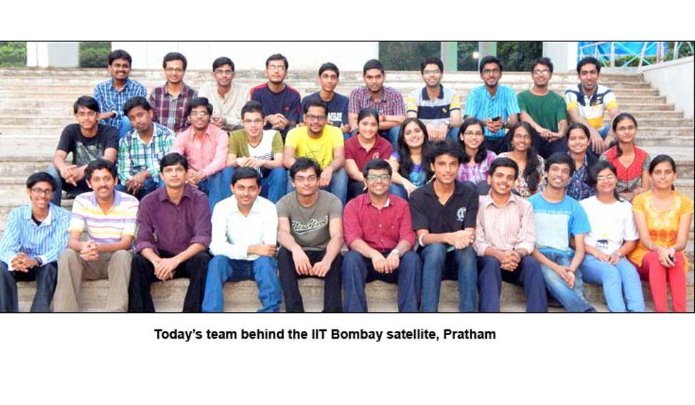 Today's team behind the IIT Bombay satellite, Pratham