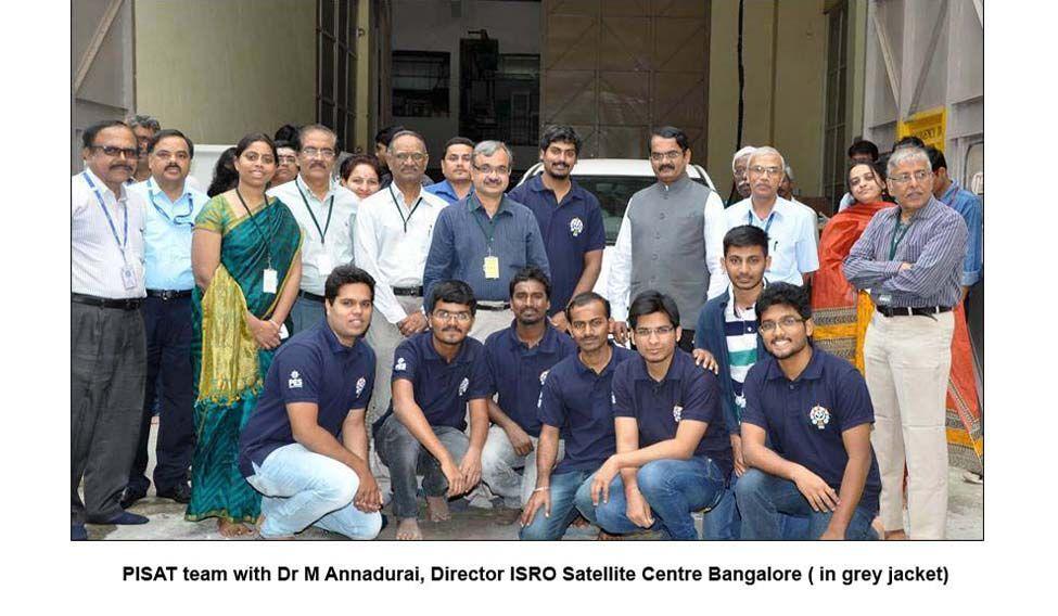 PISAT team with Dr M Annadurai, Director ISRO satellite centre Bangalore