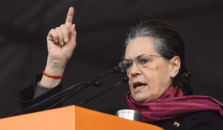 [File] Congress president Sonia Gandhi   PTI