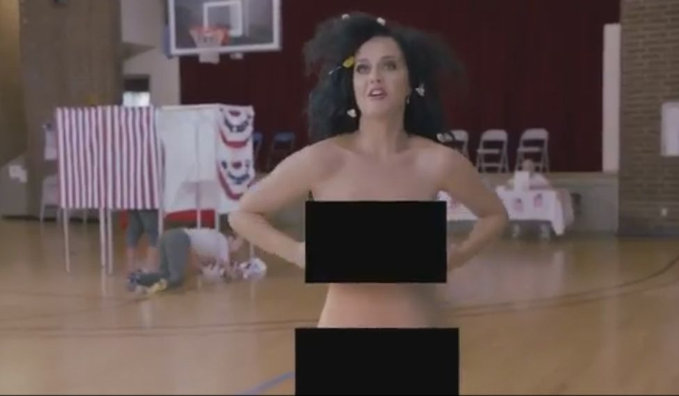 Katy Perry strips naked to urge people to vote