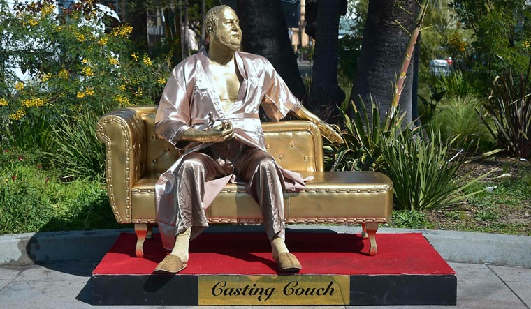 Harvey Weinstein 'Casting Couch' Statue Pops Up in Hollywood
