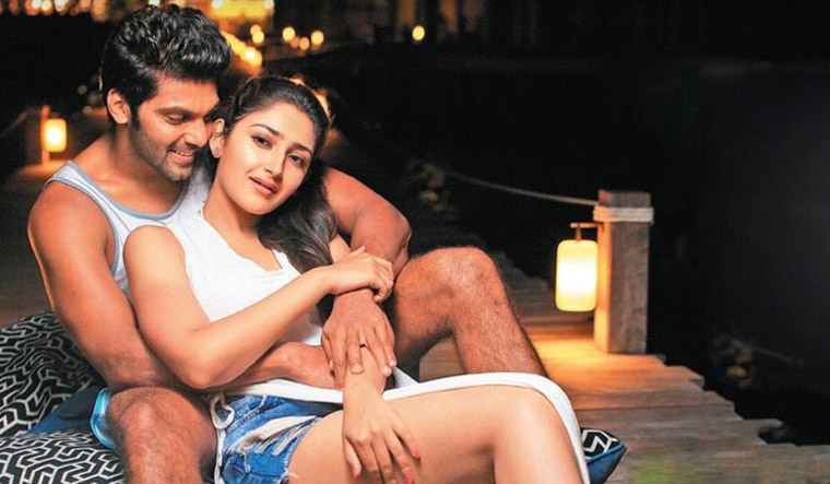 Arya Sayesha Hot Ghajinikanth Movie Photos