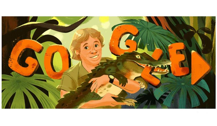 Google Doodle in honour of 'crocodile hunter' Steve Irwin on birth anniversary