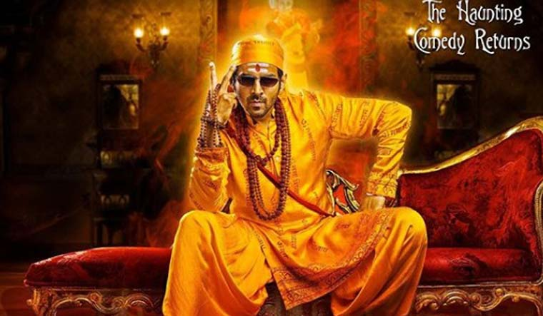 'Bhool Bhulaiyaa 2': Kartik Aaryan rocks the 'baba' look in posters