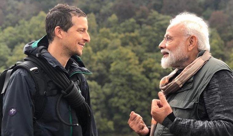 pm modi, bear grylls, man vs wild, discovery channel, narendra modi